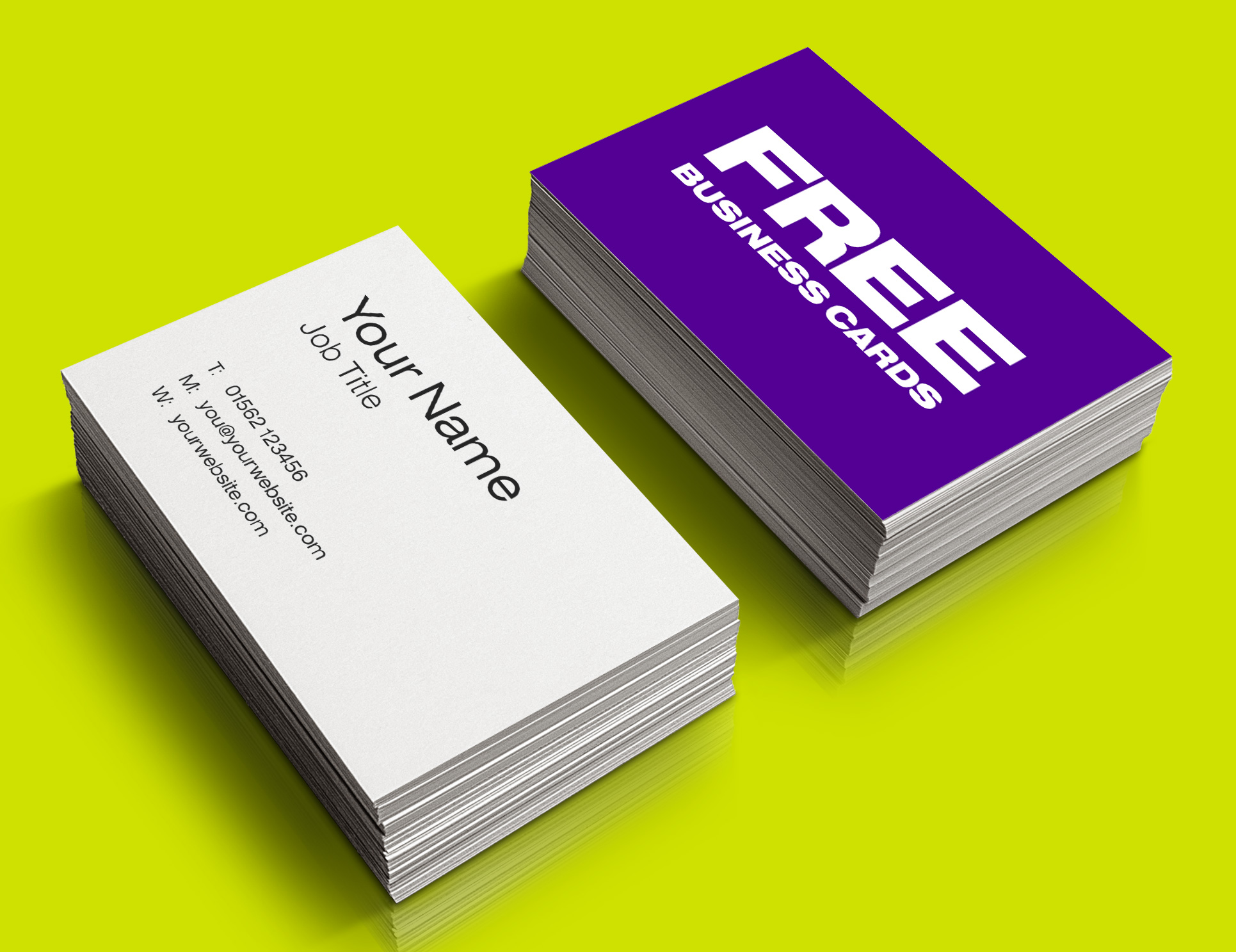 Free Business Cards zig zag advertising