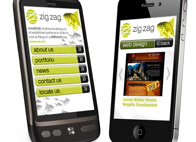 zig zag mobile website