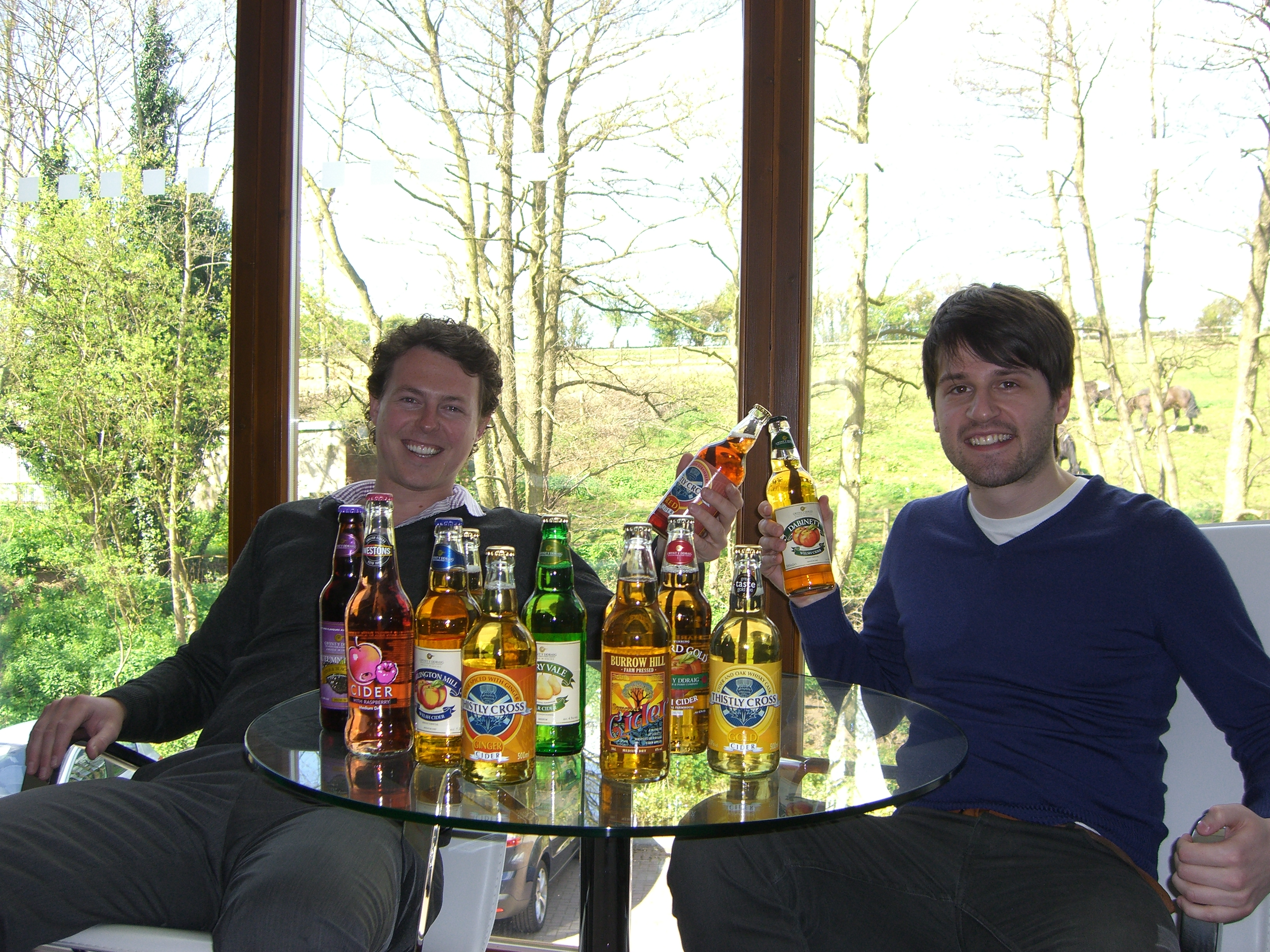 Ryan and Ben enjoy some of Twisted Cider finest