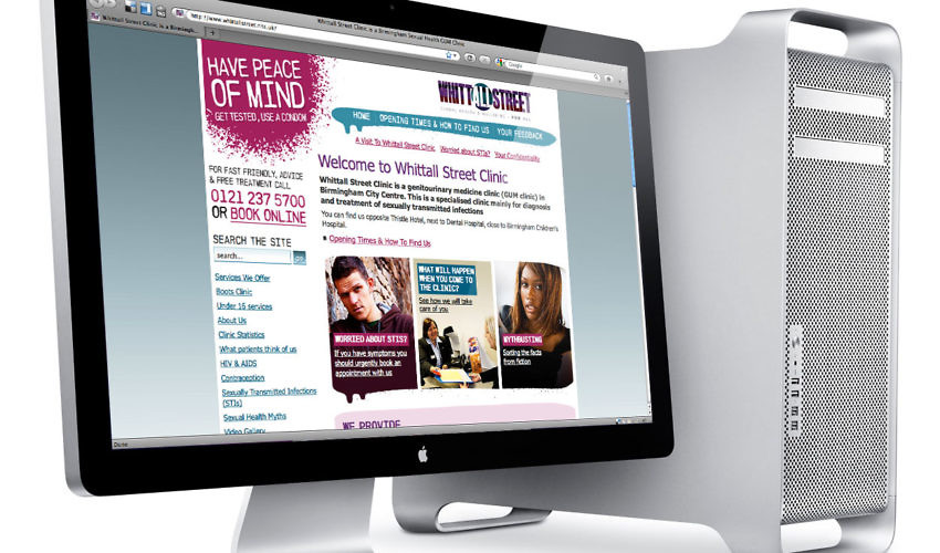 web design whittall street clinic