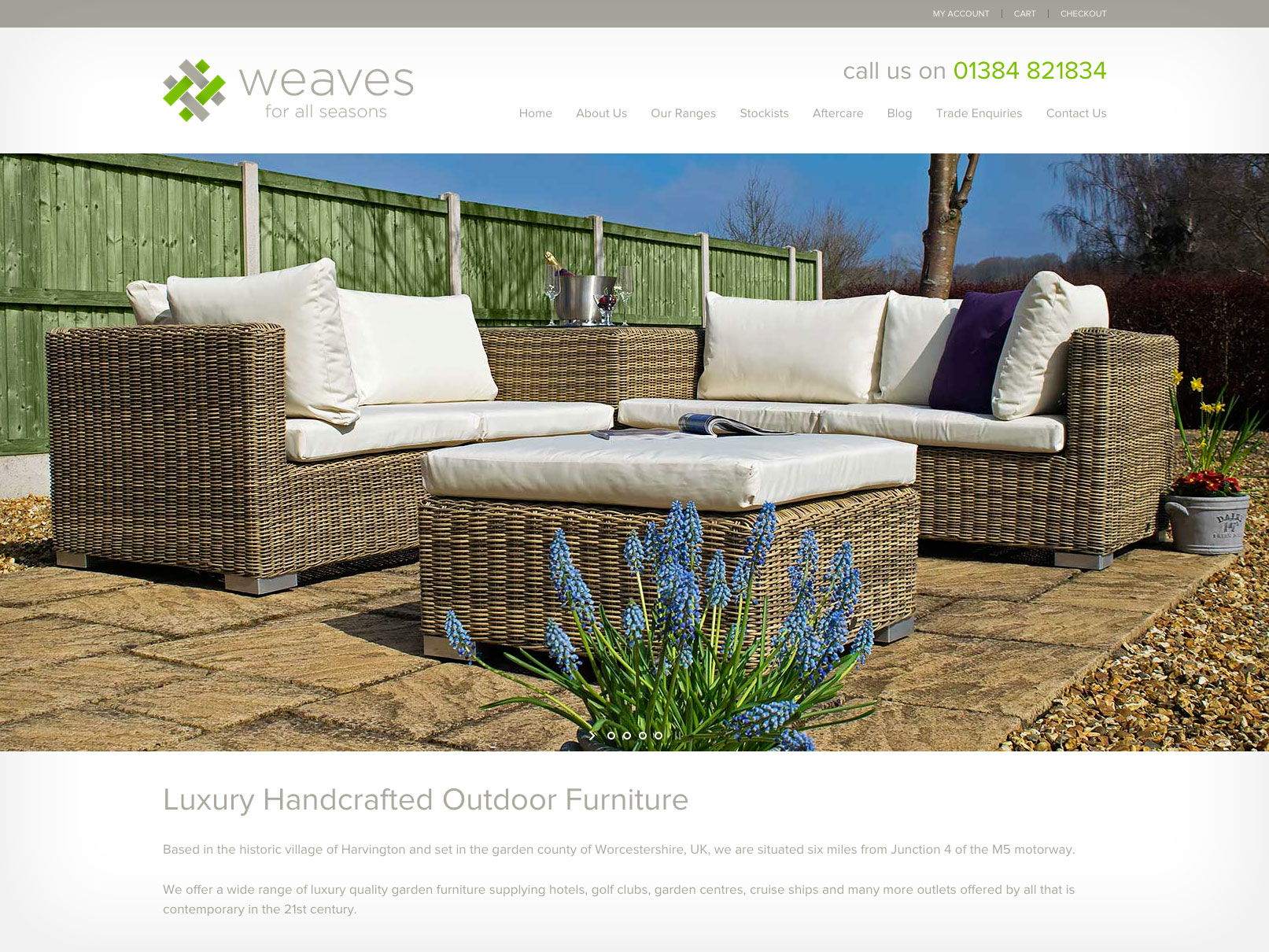 Website design Worcestershire - Weaves Furniture
