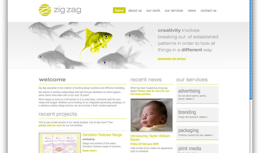 new zig zag website