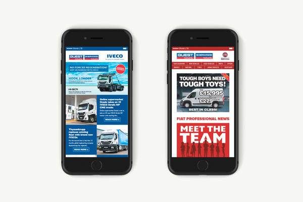 Guest IVECO and Fiat Email Newsletters