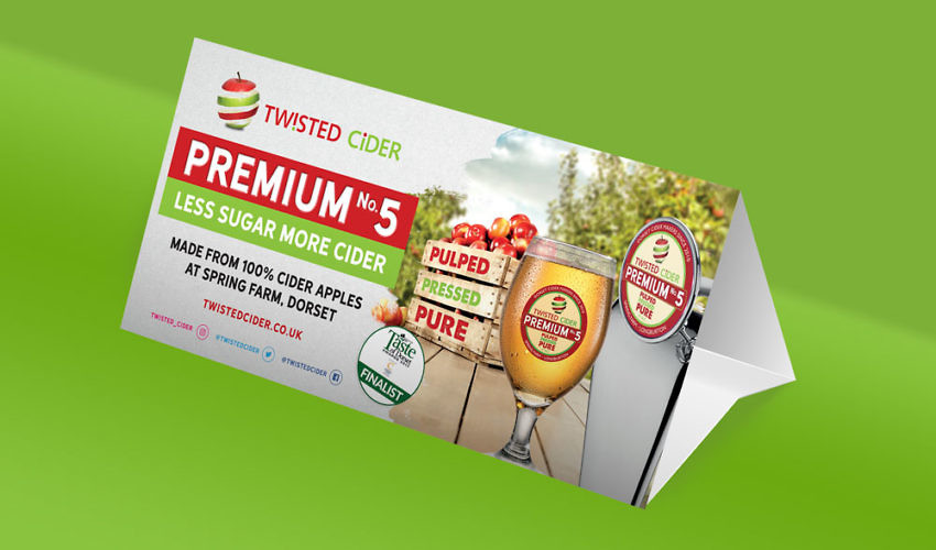 Twisted Cider Premium No. 5 Branding