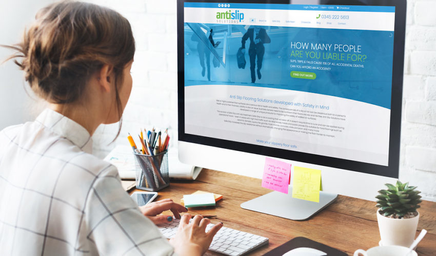 Antislip Solutions Website Design