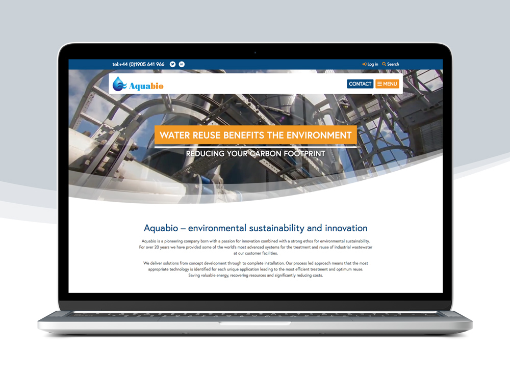 Aquabio Website Design
