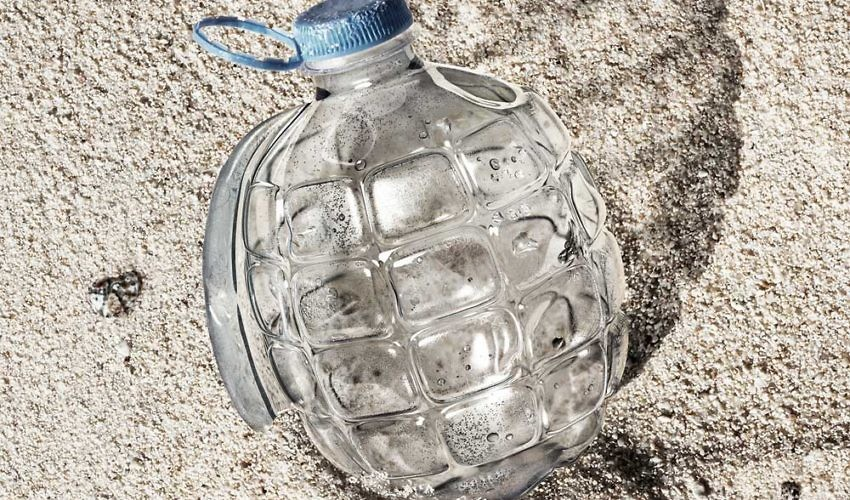Campaign from Greenpeace - Plastic Hand Grenade