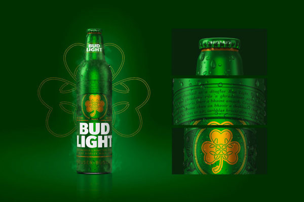 Designs We Love - Bud Light St. Patrick's Day Bottle